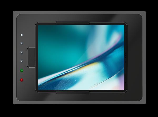 IROOM – iPad Unterputz-Dockingstation - touchDock-iPad10-b (schwarz)