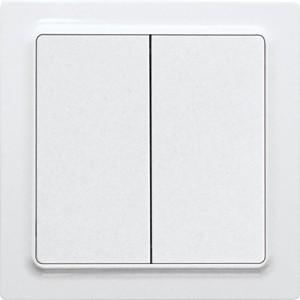 ELTAKO – Funktaster - Doppelwippe F4T55E-wg (reinweiß glänzend)