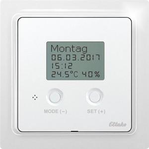 ELTAKO – Funksensor Uhren-Thermo-Hygrostat - FUTH65D/230V-wg (reinweiß-glänzend)