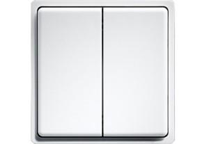 ELTAKO – Minitaster - Doppelwippe - FMT55/4 (reinweiß)