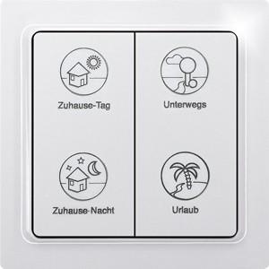 ELTAKO – Tipp-Funk-Profiltaster - F4PT-wg (reinweiß-glänzend)