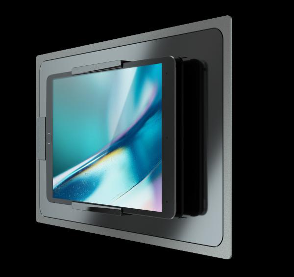 IROOM – iPad Unterputz-Dockingstation - touchDock-USB-C-iPad11-b (schwarz)