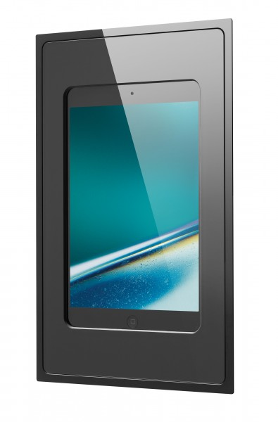 iRoom – Fixed In-Wall | fixDock-Mini4-b-HV | iPad mini 1-5 | Dockingstation, schwarz