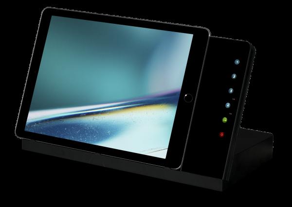 IROOM – iPad Tisch-Dockingstation - iTop-Pro-USB-C-b-BL (schwarz)