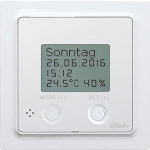 ELTAKO – Funksensor Uhren-Thermo-Hygrostat - FUTH55D/230V-wg (reinweiß-glänzend)