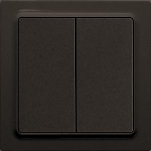 ELTAKO – Funktaster - Doppelwippe F4T55E-ag (anthrazit glänzend)